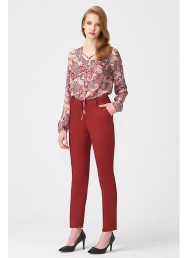 NaraMaxx Boru Paça Kiremit Pantolon Kırmızı